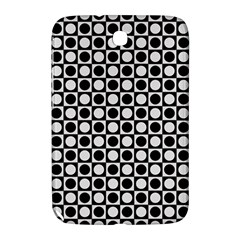 Modern Dots In Squares Mosaic Black White Samsung Galaxy Note 8.0 N5100 Hardshell Case