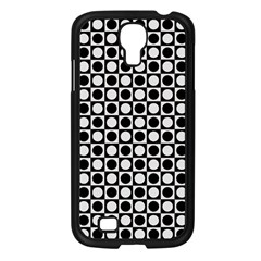 Modern Dots In Squares Mosaic Black White Samsung Galaxy S4 I9500/ I9505 Case (black)