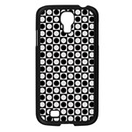 Modern Dots In Squares Mosaic Black White Samsung Galaxy S4 I9500/ I9505 Case (Black) Front