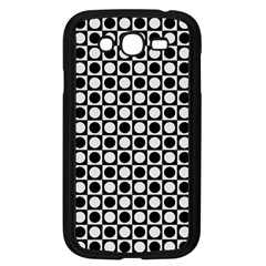 Modern Dots In Squares Mosaic Black White Samsung Galaxy Grand DUOS I9082 Case (Black)