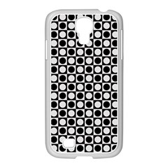 Modern Dots In Squares Mosaic Black White Samsung Galaxy S4 I9500/ I9505 Case (white) by EDDArt