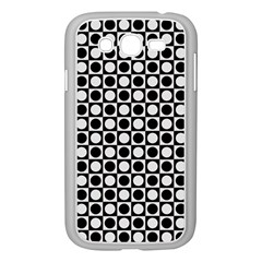 Modern Dots In Squares Mosaic Black White Samsung Galaxy Grand DUOS I9082 Case (White)