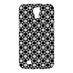 Modern Dots In Squares Mosaic Black White Samsung Galaxy Mega 6 3  I9200 Hardshell Case by EDDArt