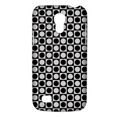 Modern Dots In Squares Mosaic Black White Galaxy S4 Mini