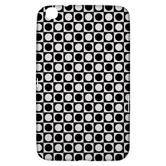Modern Dots In Squares Mosaic Black White Samsung Galaxy Tab 3 (8 ) T3100 Hardshell Case  by EDDArt