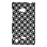 Modern Dots In Squares Mosaic Black White Nokia Lumia 720