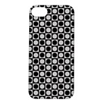 Modern Dots In Squares Mosaic Black White Apple iPhone 5S/ SE Hardshell Case