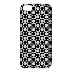 Modern Dots In Squares Mosaic Black White Apple Iphone 5c Hardshell Case by EDDArt