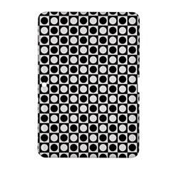 Modern Dots In Squares Mosaic Black White Samsung Galaxy Tab 2 (10 1 ) P5100 Hardshell Case  by EDDArt