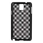 Modern Dots In Squares Mosaic Black White Samsung Galaxy Note 3 N9005 Case (Black)