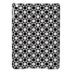Modern Dots In Squares Mosaic Black White iPad Air Hardshell Cases