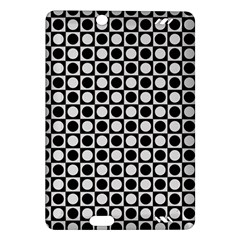 Modern Dots In Squares Mosaic Black White Amazon Kindle Fire Hd (2013) Hardshell Case by EDDArt
