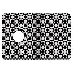 Modern Dots In Squares Mosaic Black White Kindle Fire Hdx Flip 360 Case by EDDArt