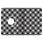 Modern Dots In Squares Mosaic Black White Kindle Fire HDX Flip 360 Case Front
