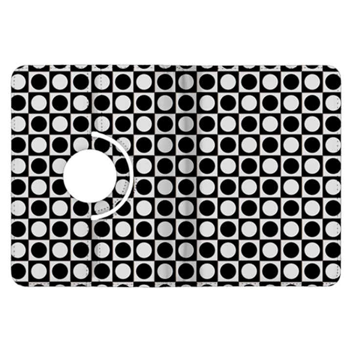 Modern Dots In Squares Mosaic Black White Kindle Fire HDX Flip 360 Case