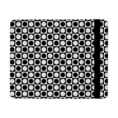 Modern Dots In Squares Mosaic Black White Samsung Galaxy Tab Pro 8 4  Flip Case by EDDArt
