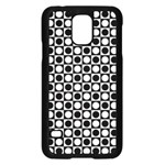 Modern Dots In Squares Mosaic Black White Samsung Galaxy S5 Case (Black)