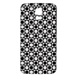 Modern Dots In Squares Mosaic Black White Samsung Galaxy S5 Back Case (White)