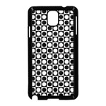 Modern Dots In Squares Mosaic Black White Samsung Galaxy Note 3 Neo Hardshell Case (Black) Front