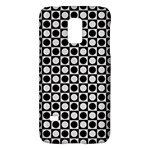 Modern Dots In Squares Mosaic Black White Galaxy S5 Mini