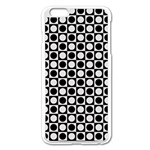 Modern Dots In Squares Mosaic Black White Apple iPhone 6 Plus/6S Plus Enamel White Case