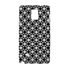 Modern Dots In Squares Mosaic Black White Samsung Galaxy Note 4 Hardshell Case
