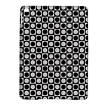 Modern Dots In Squares Mosaic Black White iPad Air 2 Hardshell Cases