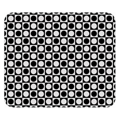 Modern Dots In Squares Mosaic Black White Double Sided Flano Blanket (Small)