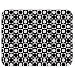 Modern Dots In Squares Mosaic Black White Double Sided Flano Blanket (Medium)