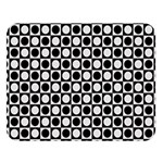 Modern Dots In Squares Mosaic Black White Double Sided Flano Blanket (Large)   Blanket Back