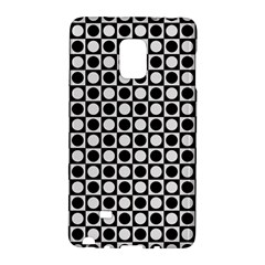 Modern Dots In Squares Mosaic Black White Galaxy Note Edge