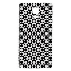 Modern Dots In Squares Mosaic Black White Galaxy Note 4 Back Case