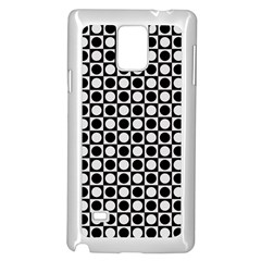 Modern Dots In Squares Mosaic Black White Samsung Galaxy Note 4 Case (White)