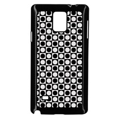 Modern Dots In Squares Mosaic Black White Samsung Galaxy Note 4 Case (black) by EDDArt