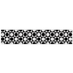 Modern Dots In Squares Mosaic Black White Flano Scarf (Small)