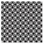 Modern Dots In Squares Mosaic Black White Large Satin Scarf (Square)