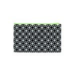 Modern Dots In Squares Mosaic Black White Cosmetic Bag (XS) Back