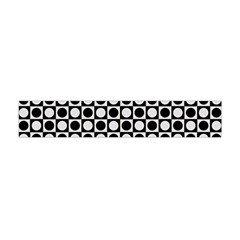 Modern Dots In Squares Mosaic Black White Flano Scarf (Mini)