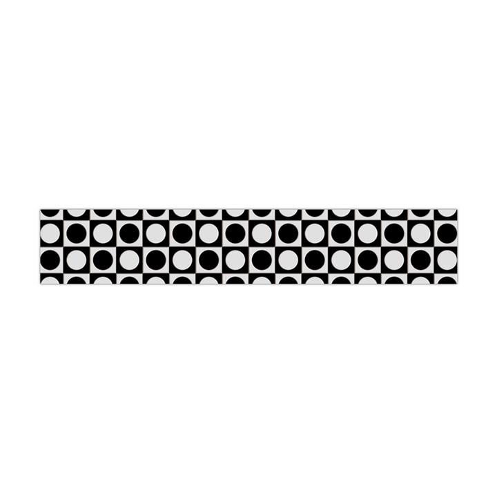 Modern Dots In Squares Mosaic Black White Flano Scarf (Mini)