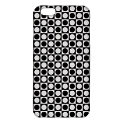 Modern Dots In Squares Mosaic Black White Iphone 6 Plus/6s Plus Tpu Case by EDDArt