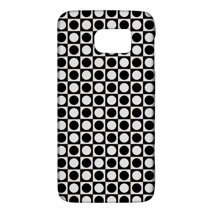 Modern Dots In Squares Mosaic Black White Galaxy S6