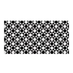 Modern Dots In Squares Mosaic Black White Satin Wrap