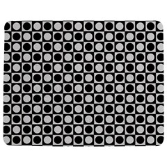 Modern Dots In Squares Mosaic Black White Jigsaw Puzzle Photo Stand (rectangular) by EDDArt