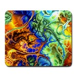 Abstract Fractal Batik Art Green Blue Brown Large Mousepads