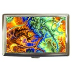 Abstract Fractal Batik Art Green Blue Brown Cigarette Money Cases