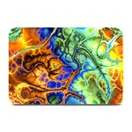 Abstract Fractal Batik Art Green Blue Brown Plate Mats