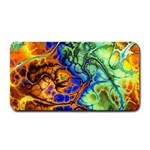 Abstract Fractal Batik Art Green Blue Brown Medium Bar Mats