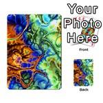 Abstract Fractal Batik Art Green Blue Brown Multi-purpose Cards (Rectangle)  Frontback
