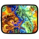 Abstract Fractal Batik Art Green Blue Brown Netbook Case (Large)