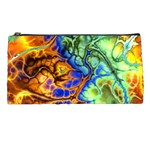 Abstract Fractal Batik Art Green Blue Brown Pencil Cases